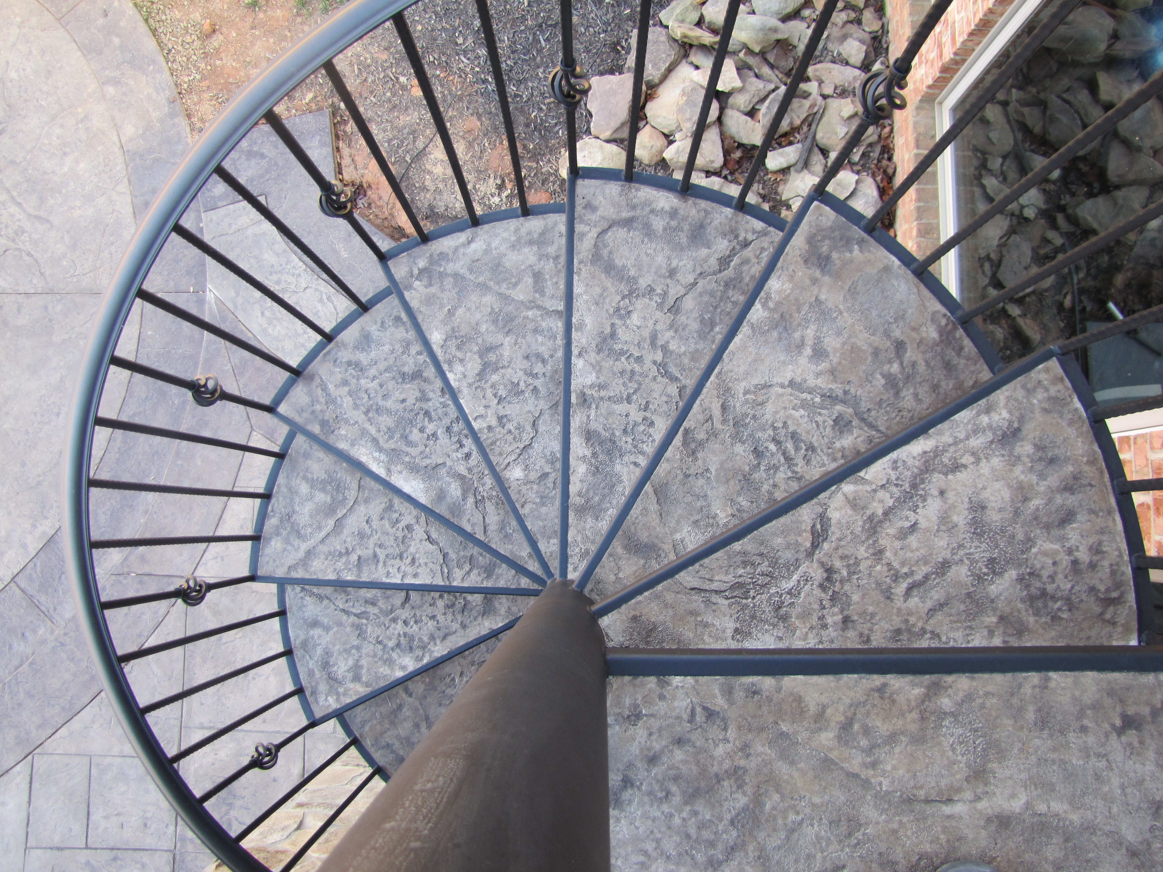 Spiral Staircase With Concrete Steps