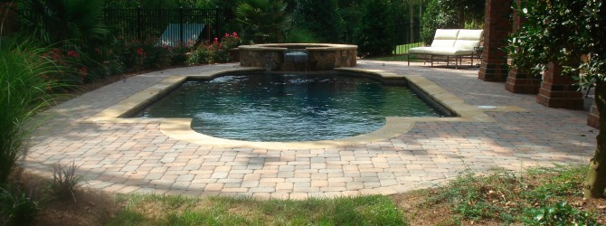 Swimming Pool With Hardscape Patio, Charlotte NC