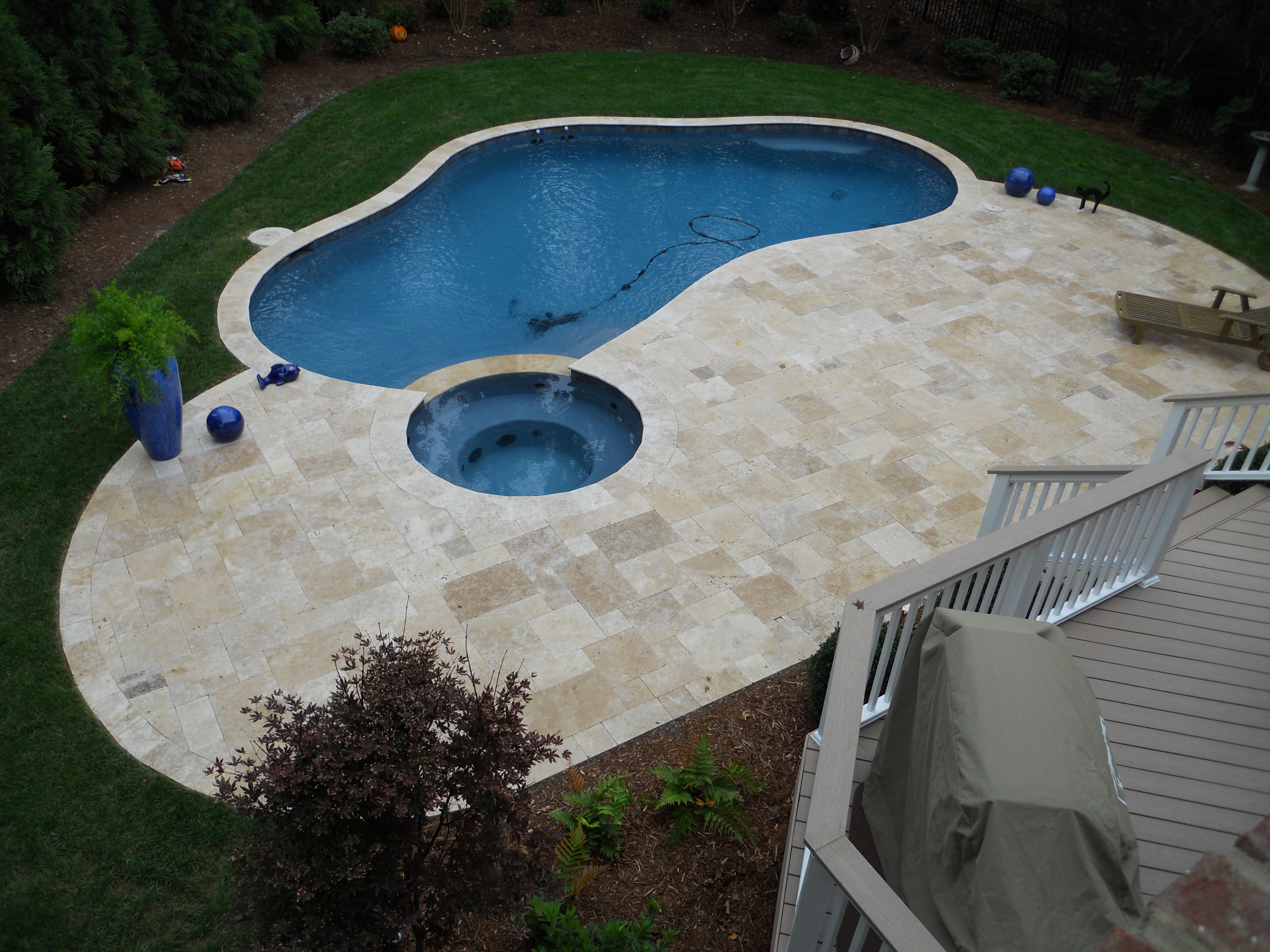 Swimming Pool with Outdoor Living Design, Charlotte NC