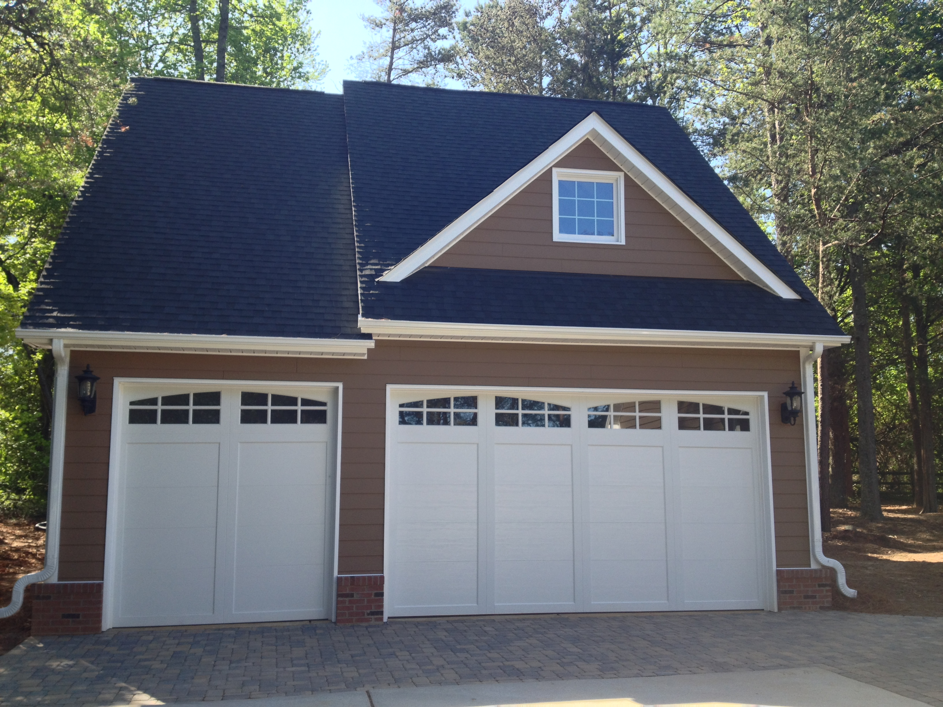 3 car detached garage cornelius nc henderson building for Garage building designs
