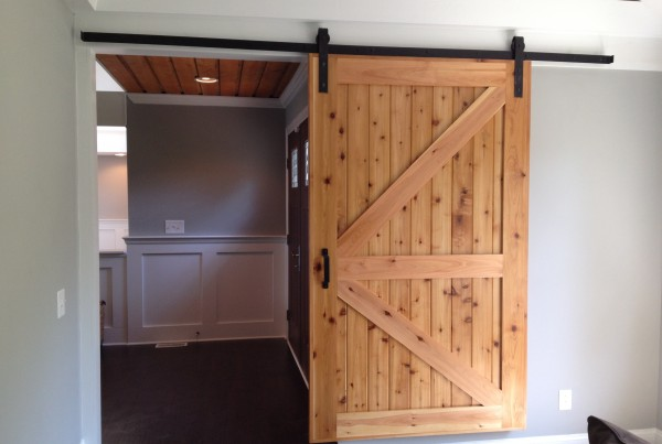 Custom Built Cedar Barn Door