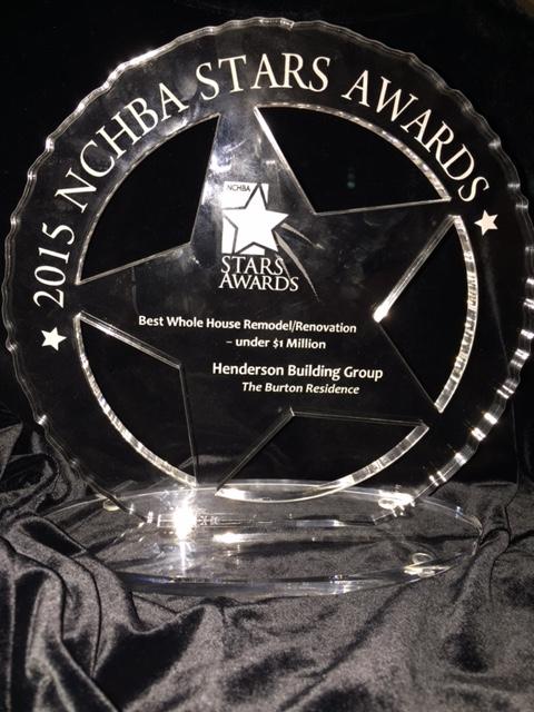 Winner of the 2015 North Carolina Home Builder Association STARS Award